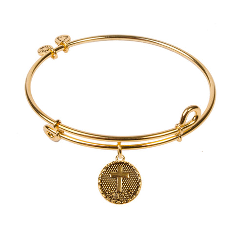 SOL Cross, Bangle 18K Gold Plated