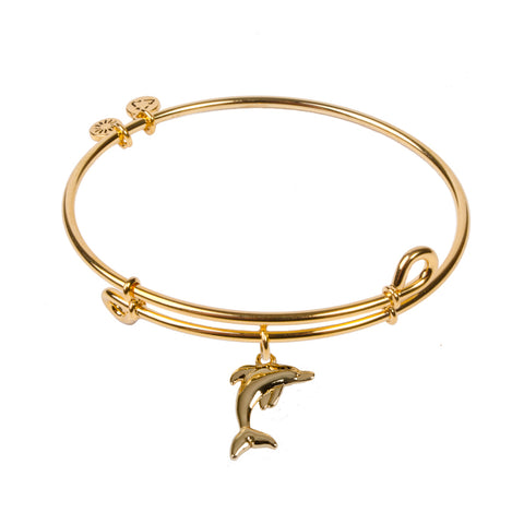 SOL Dolphin, Bangle 18K Gold Plated