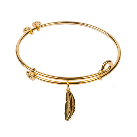 SOL Feather, Bangle 18K Gold Plated