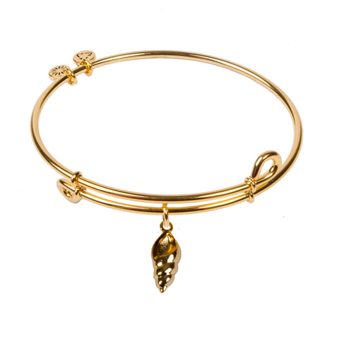 Novobeads Conch Shell, Bangle 18K Gold Plated