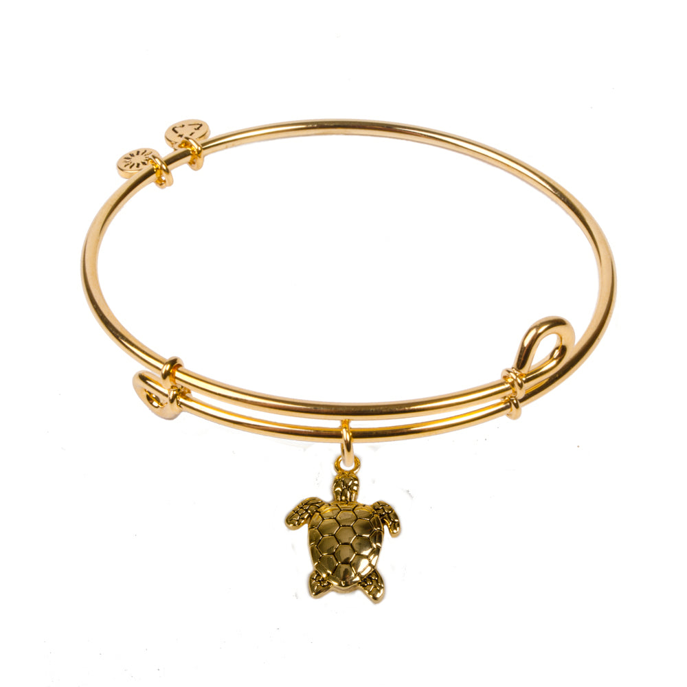 SOL Sea Turtle, Bangle 18K Gold Plated