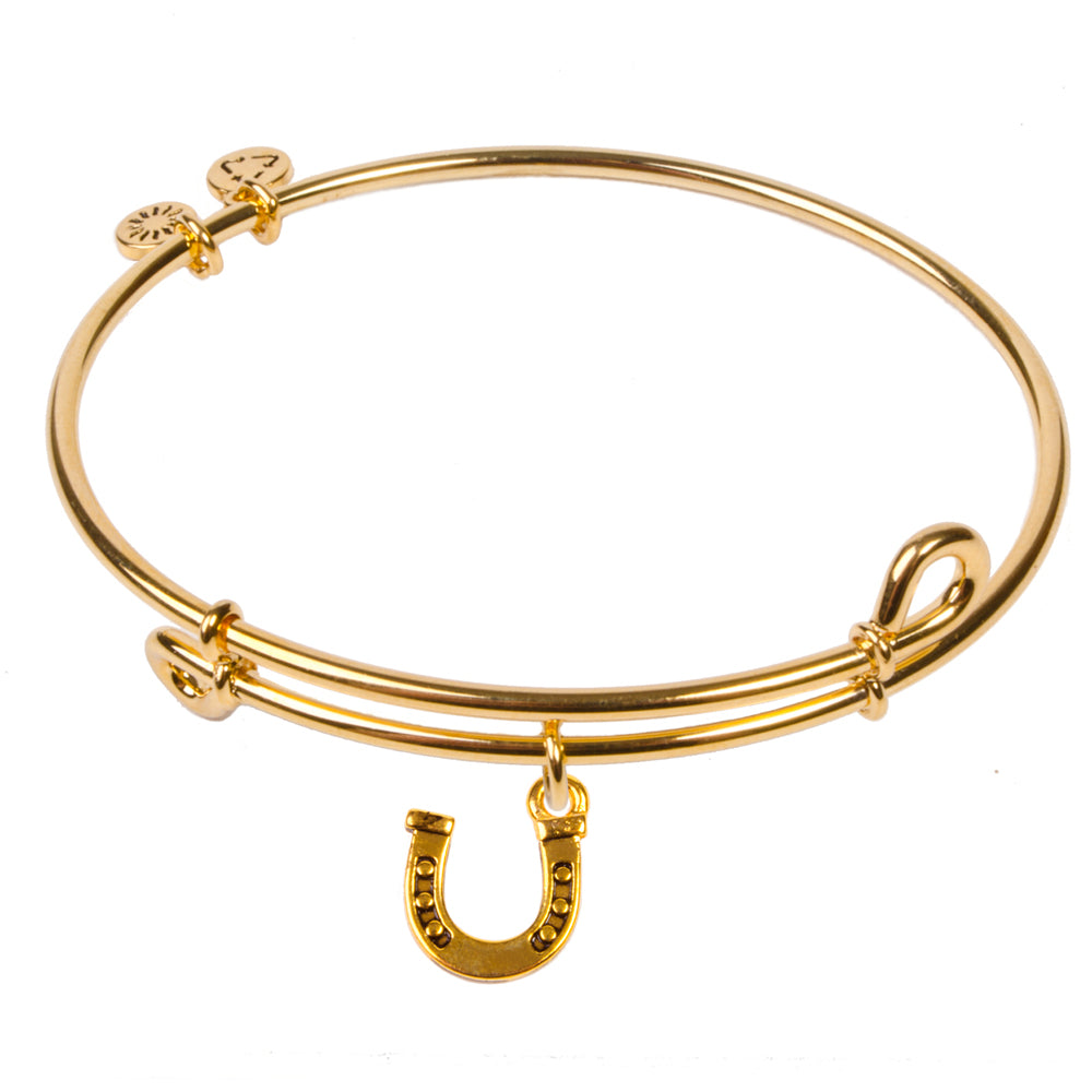 Novobeads Horseshoe, Bangle 18K Gold Plated