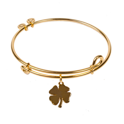 SOL Clover, Bangle 18K Gold Plated