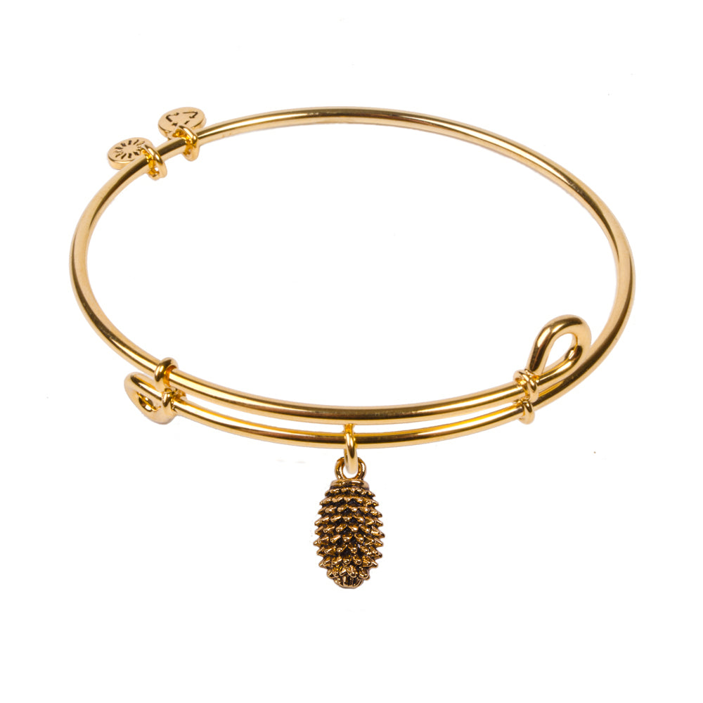 SOL Pinecone, Bangle 18K Gold Plated