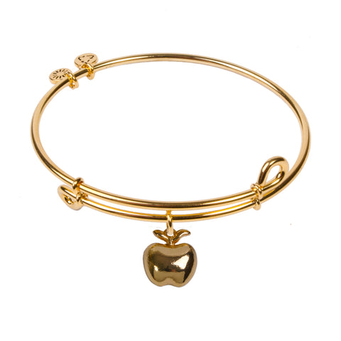 Novobeads Apple, Bangle 18K Gold Plated