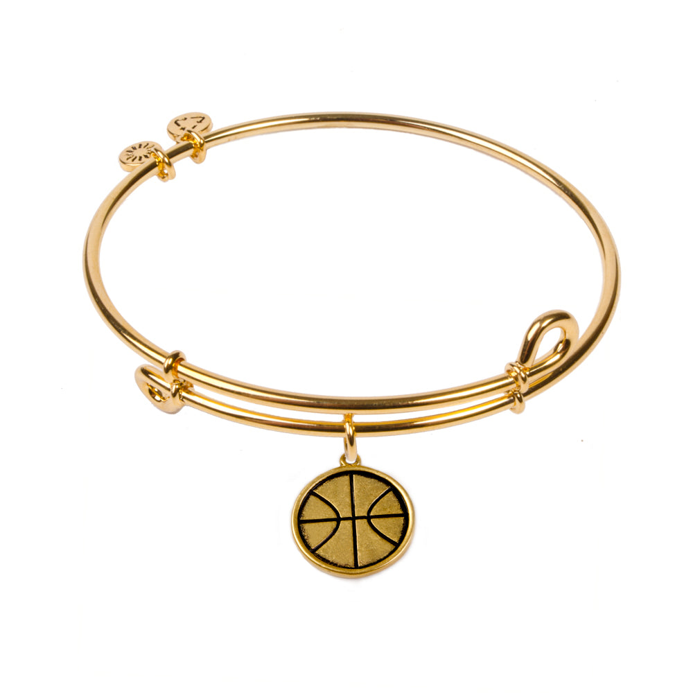 Novobeads Basketball, Bangle 18K Gold Plated