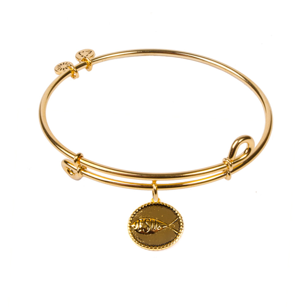 SOL Sign of the Fish, Bangle 18K Gold Plated