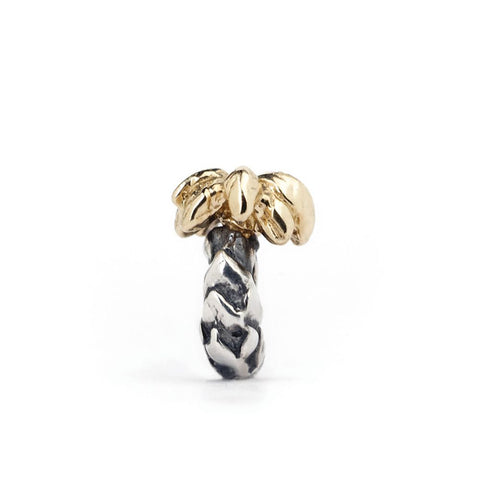Novobeads Palm Tree, Silver with 14K Gold