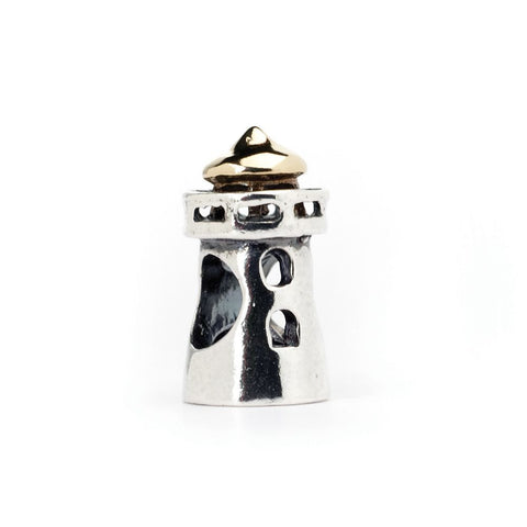Novobeads Lighthouse, Silver with 14K Gold
