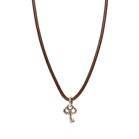 Novobeads Smooth Leather Necklace - Mocha