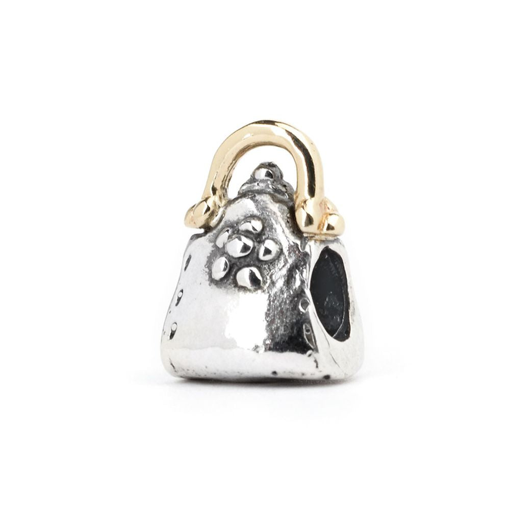 Novobeads Purse, Silver with 14K Gold