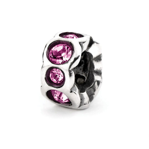 Novobeads Purple Band, Silver with Crystals