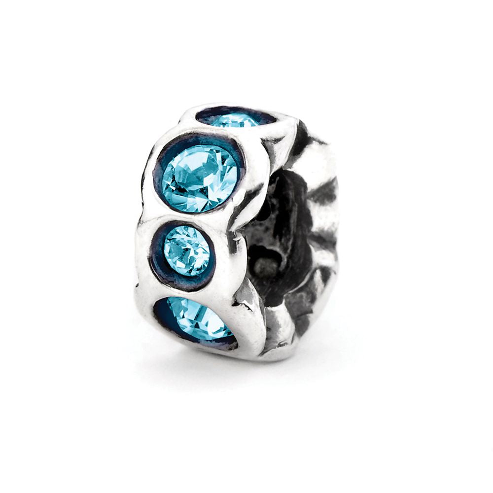 Novobeads Aqua Band, Silver with Crystals