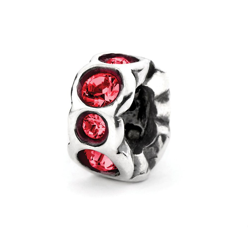 Novobeads Scarlet Band, Silver with Crystals