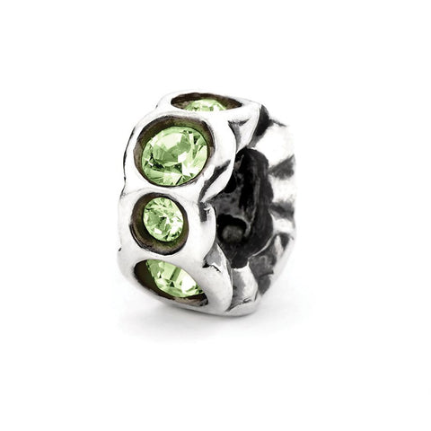 Novobeads Lime Band, Silver with Crystals