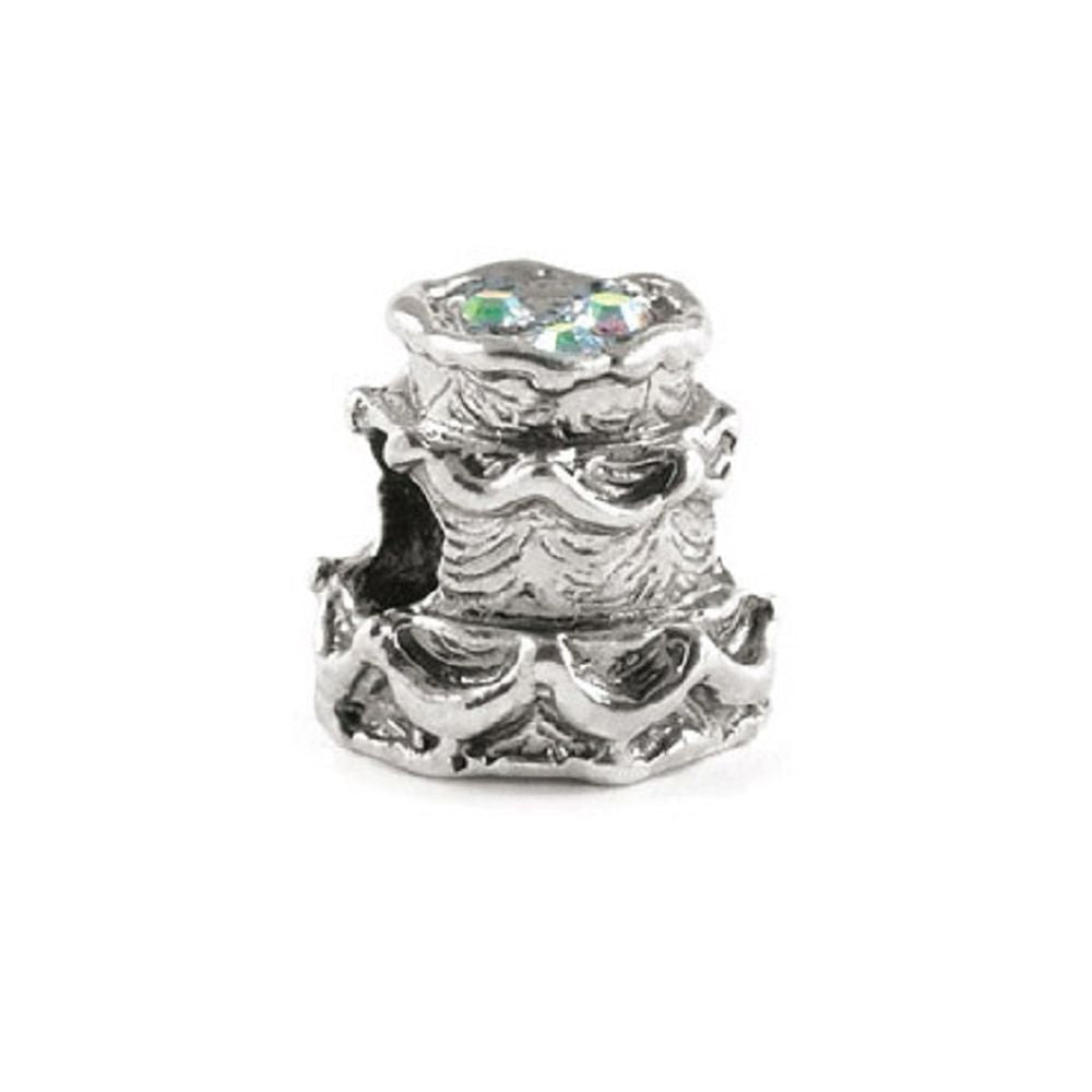 Novobeads Wedding Cake, Silver with Crystals