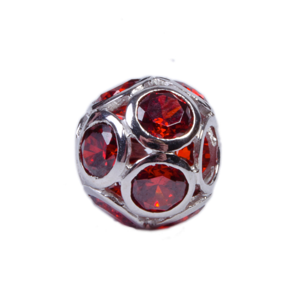 Novobeads Rose Red Orb