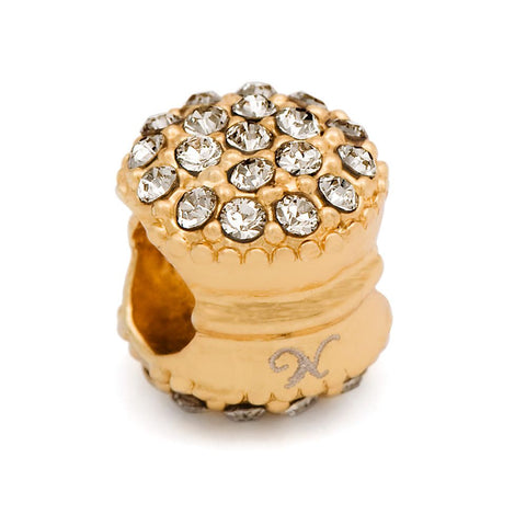 Novobeads Gold Plated & Clear Macaroon