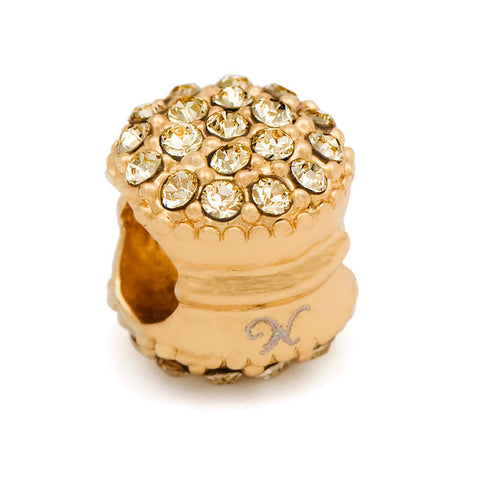 Novobeads Gold Plated & Yellow Macaroon