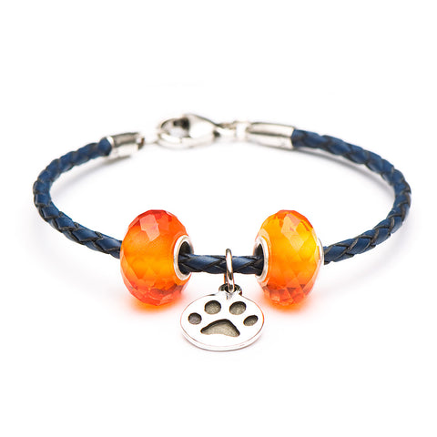 Novobeads Blue/Orange Paw