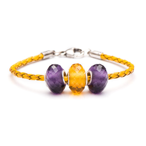 Novobeads School Spirit Bracelets, Purple/Honey