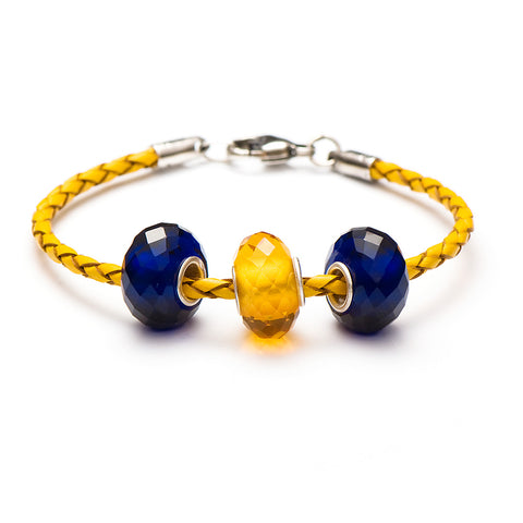 Novobeads School Spirit Bracelets, Blue/Honey