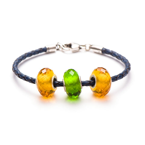 Novobeads School Spirit Bracelets, Honey/Blue/Green