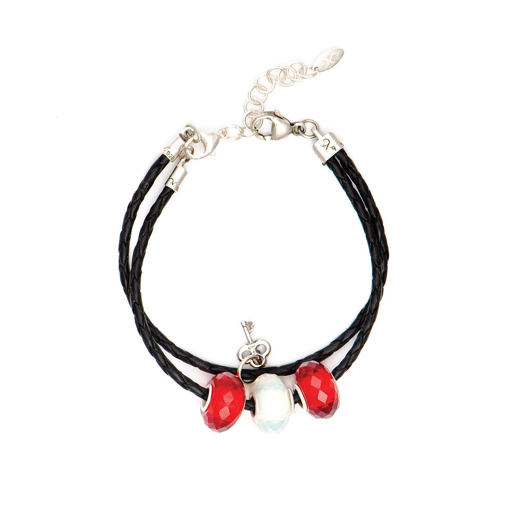 Novobeads Holiday Gift Bracelets, Crimson and Snow Bracelet