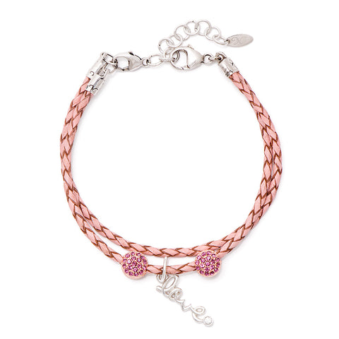 Novobeads Holiday Gift Bracelets, Love Crystal