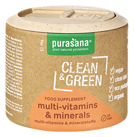 Bio Clean & Green Multivitamine und Mineralien 60 Tab.