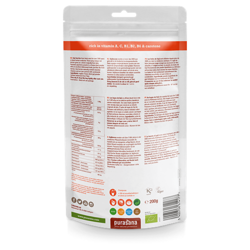 Organic goji berry powder 200g