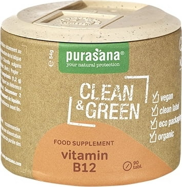 BIO Clean & Green Vitamin B12 90 Tab.