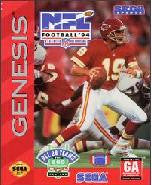 NFL Football '94 Starring Joe Montana for Sega Genesis Game