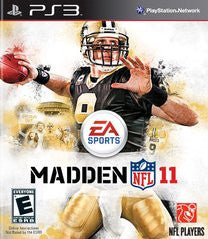 Madden NFL 11 for Playstation 3 Game