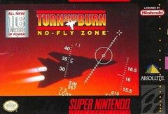Turn and Burn No Fly Zone for Super Nintendo Game