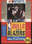 Bulls Vs Blazers and the NBA Playoffs for Sega Genesis Game
