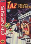 Taz in Escape from Mars for Sega Genesis Game