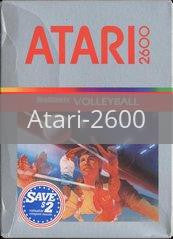 Image of Realsports Volleyball original video game for Atari 2600 classic game system. Rocket City Arcade, Huntsville Al. We ship used video games Nationwide