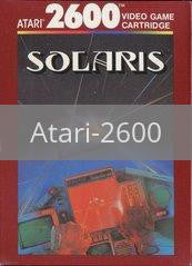 Image of Solaris original video game for Atari 2600 classic game system. Rocket City Arcade, Huntsville Al. We ship used video games Nationwide