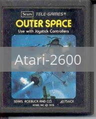 Image of Outer Space original video game for Atari 2600 classic game system. Rocket City Arcade, Huntsville Al. We ship used video games Nationwide
