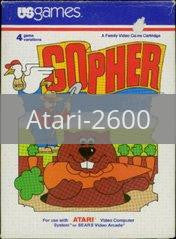 Image of Gopher original video game for Atari 2600 classic game system. Rocket City Arcade, Huntsville Al. We ship used video games Nationwide