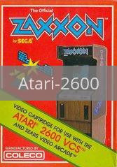 Image of Zaxxon original video game for Atari 2600 classic game system. Rocket City Arcade, Huntsville Al. We ship used video games Nationwide