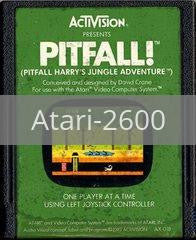 Image of Pitfall! original video game for Atari 2600 classic game system. Rocket City Arcade, Huntsville Al. We ship used video games Nationwide