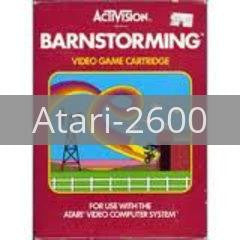 Image of Barnstorming original video game for Atari 2600 classic game system. Rocket City Arcade, Huntsville Al. We ship used video games Nationwide