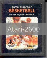 Image of Basketball original video game for Atari 2600 classic game system. Rocket City Arcade, Huntsville Al. We ship used video games Nationwide