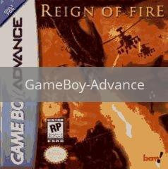Image of Reign of Fire original video game for GameBoy Advance classic game system. Rocket City Arcade, Huntsville Al. We ship used video games Nationwide
