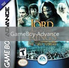 Image of Lord of the Rings Two Towers original video game for GameBoy Advance classic game system. Rocket City Arcade, Huntsville Al. We ship used video games Nationwide