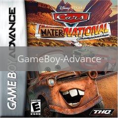 Image of Cars Mater-National Championship original video game for GameBoy Advance classic game system. Rocket City Arcade, Huntsville Al. We ship used video games Nationwide