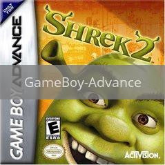 Image of Shrek 2 original video game for GameBoy Advance classic game system. Rocket City Arcade, Huntsville Al. We ship used video games Nationwide