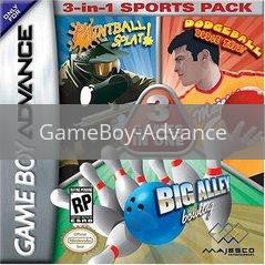 Image of 3-in-1 Sports Pack original video game for GameBoy Advance classic game system. Rocket City Arcade, Huntsville Al. We ship used video games Nationwide